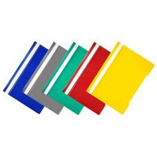 Папка-скоросшиватель Бюрократ -PS20/1 (A4, прозрачный верхний лист, пластик, ассорти) [PS20/1]
