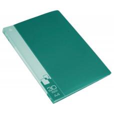 Папка Бюрократ -BPV30GRN (A4, пластик, толщина пластика 0,65мм, карман торцевой с бумажной вставкой, зеленый) [BPV30GRN]
