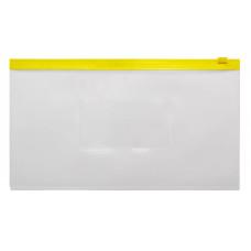 Папка на молнии ZIP Бюрократ BPM6AYEL (полипропилен, толщина пластика 0,15мм, молния желтый) [BPM6AYEL]