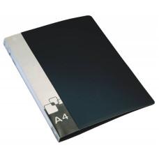 Папка с зажимом Бюрократ -PZ07PBLCK (зажимов 1, A4, пластик, толщина пластика 0,7мм, карман внутренний и торцевой с бумажной вставкой, черный) [PZ07PBLCK]