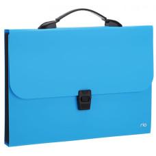 Папка-портфель Deli Rio EB40202 (A4, отделений 7, полипропилен, толщина пластика 0,6мм, ассорти) [EB40202]