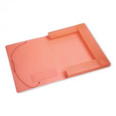 Папка-короб Бюрократ -CR515 (A4, пластик, толщина пластика 0,5мм, на резинке, ширина корешка 25мм, ассорти) [CR515]