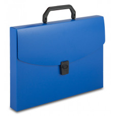 Портфель Бюрократ BPP01BLUE (A4, отделений 1, пластик, толщина пластика 0,7мм, синий) [BPP01BLUE]