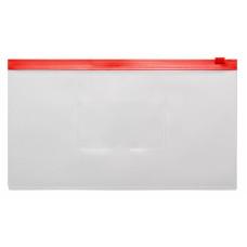 Папка на молнии ZIP Бюрократ -BPM6ARED (полипропилен, толщина пластика 0,15мм, молния красный) [BPM6ARED]