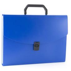 Портфель Бюрократ -BPP13BLUE (13 отделений, A4, пластик, 0,7мм, синий) [BPP13BLUE]