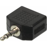 Адаптер аудио Ningbo (2xJack 3.5 (f), Jack 3.5 (m))