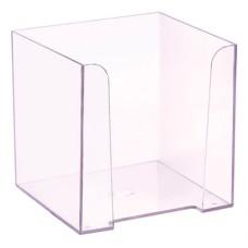 Подставка для бумажного блока СТАММ ПЛ41 (пластик, 90x90x90мм) [ПЛ41]
