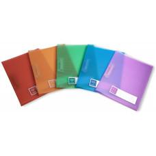 Папка с зажимом Бюрократ Crystal CR05P (зажимов 1, A4, пластик, толщина пластика 0,5мм, ассорти) [CR05P]