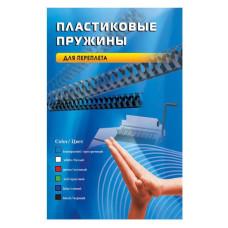 Пружина пластиковая Office Kit BP2030 (12мм, A4, черный, 100шт) [BP2030]