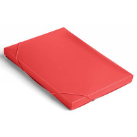 Папка-короб Бюрократ -BA25/05RED (A4, пластик, толщина пластика 0,5мм, на резинке, ширина корешка 25мм, красный) [BA25/05RED]