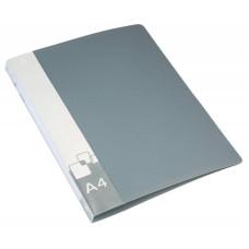 Папка с зажимом Бюрократ -PZ07CGREY (зажимов 1, A4, пластик, толщина пластика 0,7мм, карман внутренний и торцевой с бумажной вставкой, серый) [PZ07CGREY]