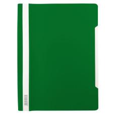 Папка-скоросшиватель Бюрократ -PSL20GRN (A4, прозрачный верхний лист, пластик, зеленый) [PSL20GRN]