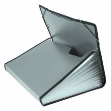 Портфель Бюрократ -BPR13LGREY (13 отделений, A4, пластик, с окантовкой, 0,7мм, серый) [BPR13LGREY]