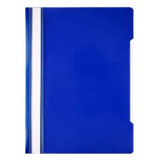 Папка-скоросшиватель Бюрократ -PSE20BLUE (A4, прозрачный верхний лист, пластик, синий) [PSE20BLUE]