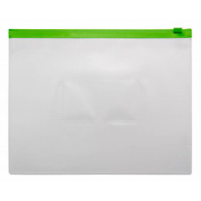 Папка на молнии ZIP Бюрократ BPM5AGRN (A5, полипропилен, толщина пластика 0,15мм, молния зеленый) [BPM5AGRN]