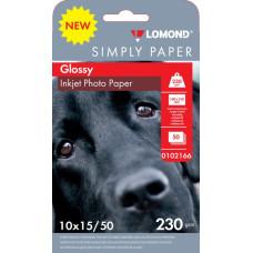 Бумага Lomond 0102166 (10x15, 230г/м2, для струйной печати, односторонняя, глянцевая, 50л) [0102166]