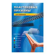 Пружина пластиковая Office Kit BP2050 (16мм, A4, черный, 100шт) [BP2050]