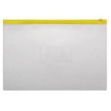 Папка на молнии ZIP Бюрократ BPM4AYEL (A4+, полипропилен, толщина пластика 0,15мм, молния желтый) [BPM4AYEL]