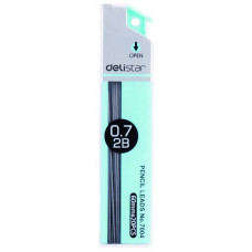 Грифель Deli E7004 (0,7мм, упаковка 20шт, туба, 2B) [E7004]