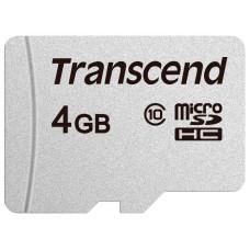 Карта памяти microSDHC 4Гб Transcend (Class 10, UHS-I) [TS4GUSD300S]