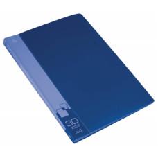 Папка Бюрократ -BPV30BLUE (A4, пластик, толщина пластика 0,65мм, карман торцевой с бумажной вставкой, синий) [BPV30BLUE]