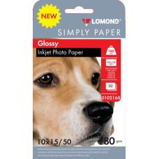 Бумага Lomond 0102168 (10x15, 180г/м2, для струйной печати, односторонняя, глянцевая, 50л) [0102168]