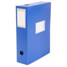 Короб архивный Бюрократ BA100 (100мм, пластик, вырубная застежка) [BA100/08BLUE]