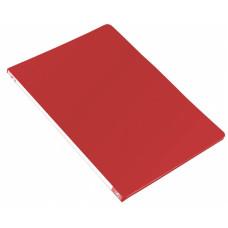 Папка с зажимом Бюрократ -PZ05PRED (зажимов 1, A4, пластик, толщина пластика 0,5мм, торцевая наклейка, красный) [PZ05PRED]