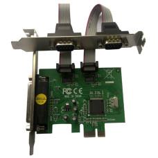 Контроллер MS9901(PCI-E, 2xCOM, 1xLPT) [ASIA PCIE 2S1P]