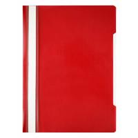 Папка-скоросшиватель Бюрократ -PSE20RED (A4, прозрачный верхний лист, пластик, красный) [PSE20RED]