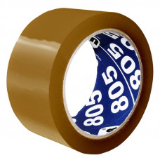 Клейкая лента UNIBOB (упаковочная, 50мм, 66м, 50мкм, коричневый) [41170]