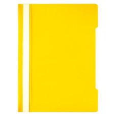 Папка-скоросшиватель Бюрократ -PSE20YEL (A4, прозрачный верхний лист, пластик, желтый) [PSE20YEL]