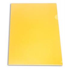 Папка-уголок Бюрократ E310N/1YEL (A4, пластик, непрозрачный, толщина пластика 0,18мм, желтый) [E310N/1YEL]