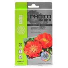Фотобумага Cactus CS-GA620025 (10x15, 200г/м2, для струйной печати, односторонняя, глянцевая, 25л) [CS-GA620025]
