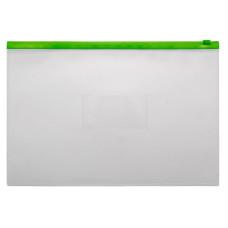 Папка на молнии ZIP Бюрократ -BPM4AGRN (A4+, полипропилен, толщина пластика 0,15мм, молния зеленый) [BPM4AGRN]