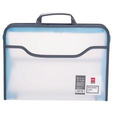 Папка-портфель Deli E38129 (A4, отделений 1, полипропилен, толщина пластика 0,65мм, ассорти) [E38129]