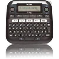 Стационарный принтер Brother PT-D210 (прямая термопечать, 180pdi, 20мм/сек, лента: 12мм, обрезка ленты ручная) [PTD210R1]