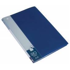 Папка Бюрократ -BPV20BLUE (A4, пластик, толщина пластика 0,6мм, карман торцевой с бумажной вставкой, синий) [BPV20BLUE]