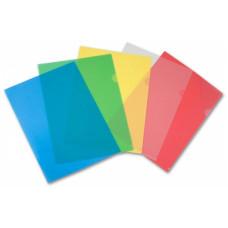 Папка-уголок Бюрократ Economy -E100A (A4, пластик, тисненый, толщина пластика 0,1мм, ассорти) [E100A]
