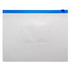 Папка на молнии ZIP Бюрократ BPM5ABLUE (A5, полипропилен, толщина пластика 0,15мм, молния синий) [BPM5ABLUE]