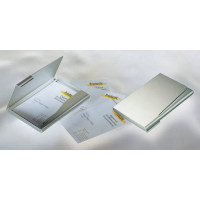 Визитница DURABLE (55х90 мм, алюминий, серебристый, 15визиток) [2415-23]