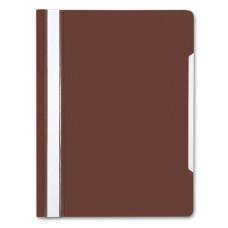 Папка-скоросшиватель Бюрократ -PS20BROWN (A4, прозрачный верхний лист, пластик, коричневый) [PS20BROWN]