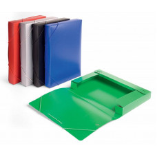Папка-короб Бюрократ BA40/07 (A4, пластик, толщина пластика 0,7мм, на резинке, ширина корешка 40мм, ассорти) [BA40/07]