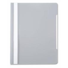 Папка-скоросшиватель Бюрократ -PS20GREY (A4, прозрачный верхний лист, пластик, серый) [PS20GREY]