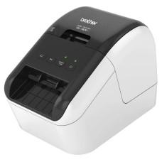 Стационарный принтер Brother QL-800 (прямая термопечать, 300pdi, 148мм/сек, лента: 62мм, обрезка ленты ручная, USB) [QL800R1]
