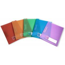 Папка с зажимом Бюрократ Crystal CR05C (зажимов 1, A4, пластик, толщина пластика 0,5мм, ассорти) [CR05C]
