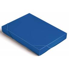 Папка-короб Бюрократ -BA40/07BLUE (A4, пластик, толщина пластика 0,7мм, на резинке, ширина корешка 40мм, синий) [BA40/07BLUE]
