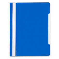 Папка-скоросшиватель Бюрократ -PS20BLUE (A4, прозрачный верхний лист, пластик, синий) [PS20BLUE]