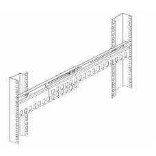 Кабельный органайзер ЦМО ГКО-45-100 (двухсторонний, окна, 1U, 67,6мм) [ГКО-45-100]