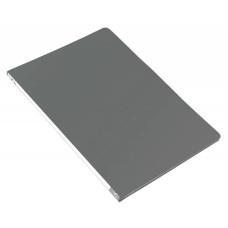 Папка с зажимом Бюрократ -PZ05CGREY (зажимов 1, A4, пластик, толщина пластика 0,5мм, торцевая наклейка, серый) [PZ05CGREY]